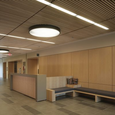 9Wood 1200 Dowel Grille at Emory U. Health Science Research, Atlanta, Georgia. ZGF Architects. Photo: Rion Rizzo.