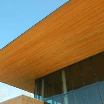 9Wood 2400 Tongue & Groove Linear at Chicago Botanical Garden, Chicago, Illinois. Booth Hansen.