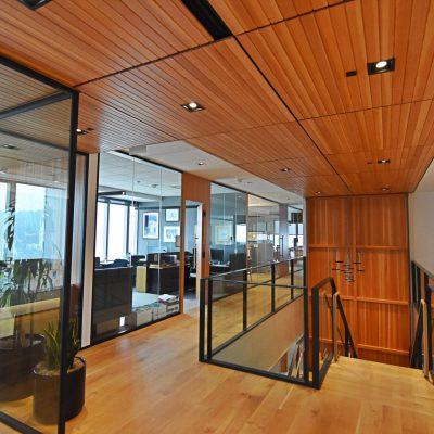 9Wood 2500 T & G Splay Linear at Stoel Rives, Portland, Oregon. ZGF Architects.