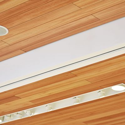 9Wood 2700 Kerf Reveal Linear at Nordstrom at St. Johns Town Center, Jacksonville, Florida. Callison Architects.