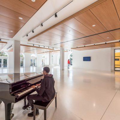 9Wood 3200 Acoustic Tile at Duke Ellington School, Washington, D.C. Lance Bailey & Associates; Cox Graae + Spack Architects. Photo: Chris Ambridge.