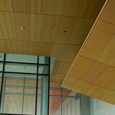 9Wood 3200 Acoustic Tile at Solo District/Altus, Barnaby, British Columbia. Chris Dikeakos Architects, Inc. Photo: ChrisBarton.Photography.