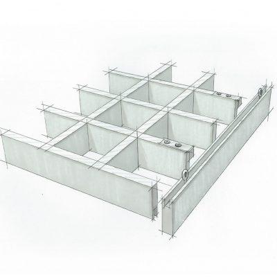 9Wood 6600 Monolithic Cube - Wood Grid Sketch.