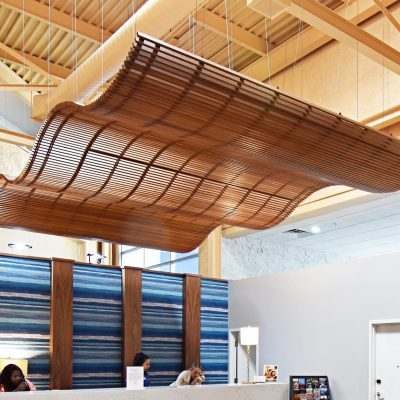 9Wood 8100 Wood Grille Wave at Lexington Hotel, Jacksonville, Florida. Deacon Design.