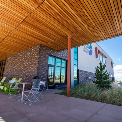 9Wood 2100 Panelized Linear at Lone Tree Library, Lone Tree, Colorado. AndersonMasonDale Architects, studiotrope.
