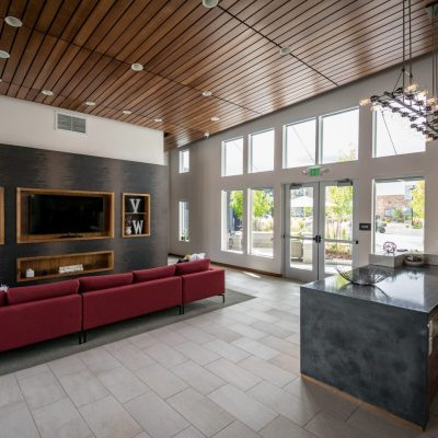 9Wood 2100 Panelized Linear at VerraWest Apartments, Longmont, Colorado. Humphries Poli Architects.