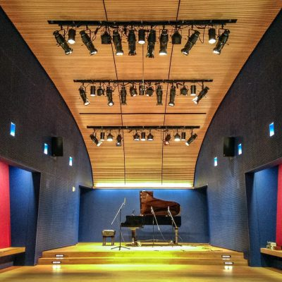 9Wood 5200 Staggered Perf Tile at OPERA America, New York, New York. Andrew Berman Architect.