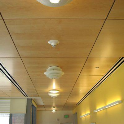 9Wood 4400 Torsion Spring Tile at Denver Children's Hospital, Aurora, Colorado. ZGF Architects.