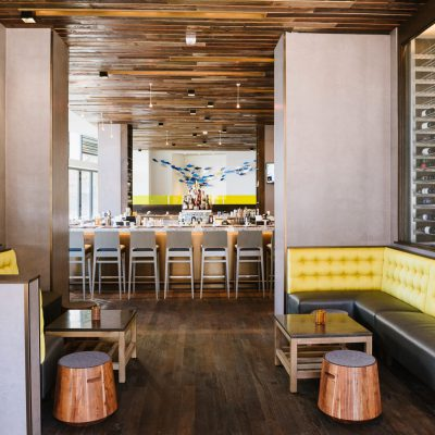 2300 Continuous Linear at the Passion Fish restaurant, Bethesda, Maryland. Gensler. Photo: Kate Warren.