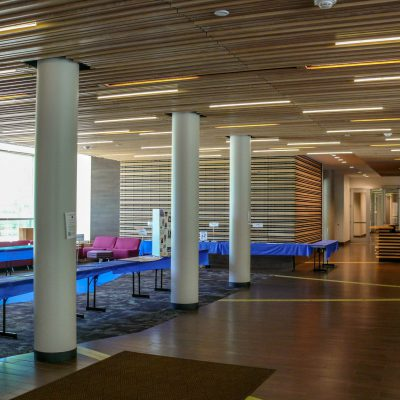 9Wood custom 2100 Panelized Linear at the Westfield State University Residence Hall, Westfield, Mass.  ADD Architects.