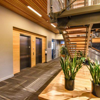 9Wood 2100 Panelized Linear at the NW Community Credit Union, Eugene, Oregon. Rowell Brokaw.