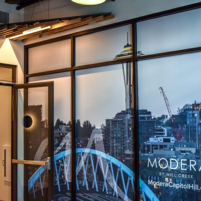 9Wood 1100 Cross Piece Grille at the Modera Capitol Hill, Seattle, Washington. Studio Meng Strazzara.