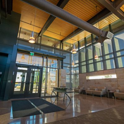9Wood 2300 Continuous Linear at the Parker Police Headquarters, Parker, Colorado. AndersonMasonDale Architects.