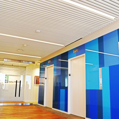 1100 Cross Piece Grille at the Federal Home Loan Bank, Seattle, Washington.  SkB Architects.