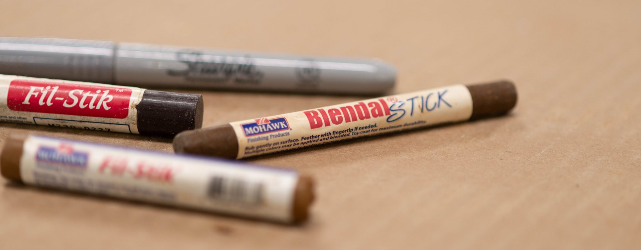 Blendal sticks are a must for quick wood ceiling repairs