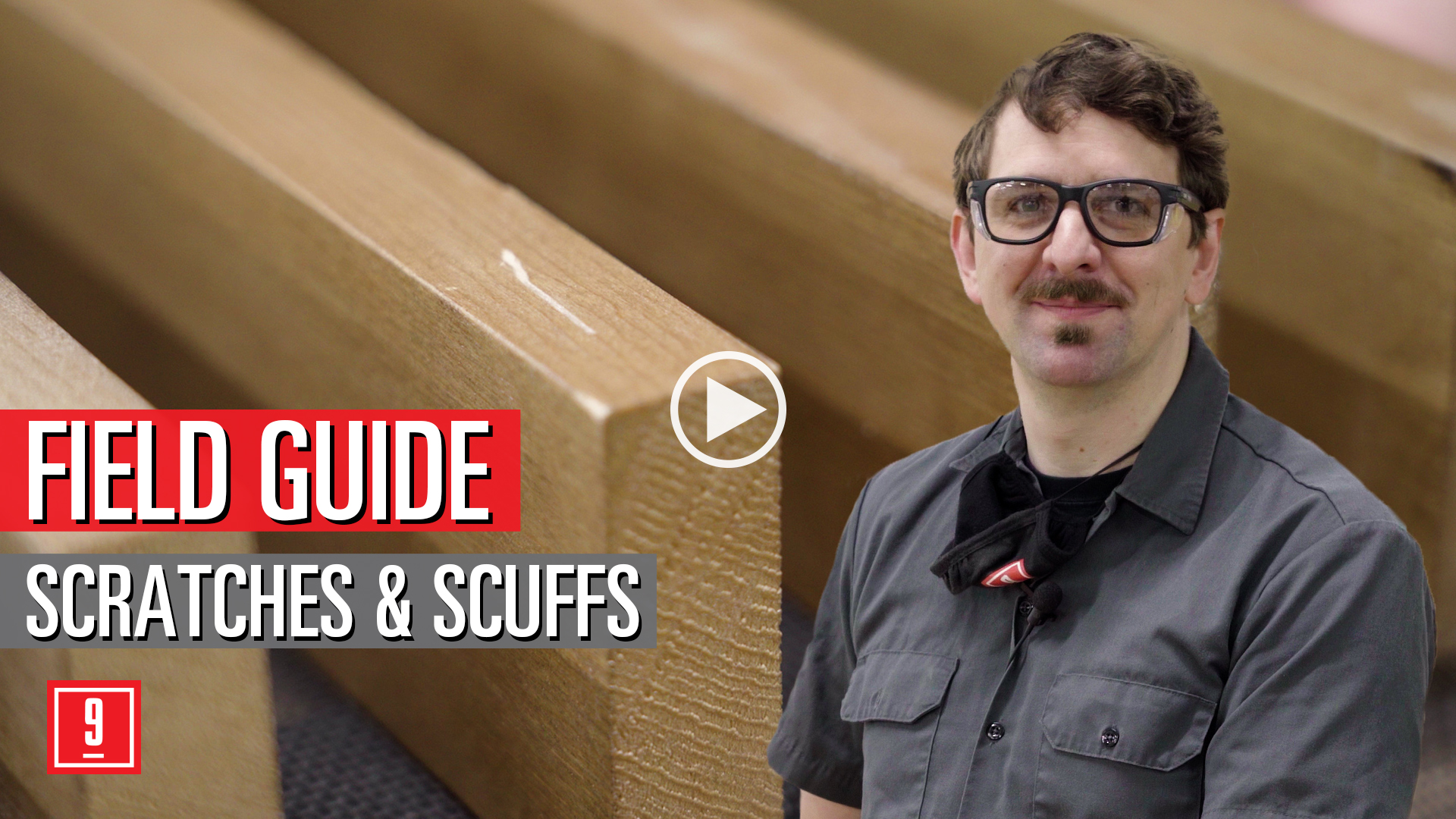 9Wood Field guide - repairing scratches and scuffs for wood ceilings