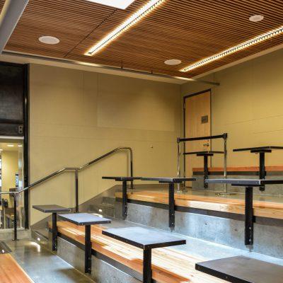 9Wood 1100 Cross Piece Grille at University of Washington Lander Hall, Seattle, Washington. Mithun Architects.