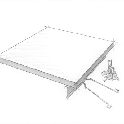 4600 True Access Tile hand sketch of a product sample.