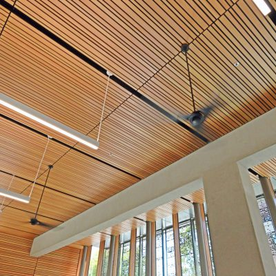 9Wood 2100 Panelized Linear at UO Allan Price Science Commons, Eugene, Oregon. Opsis Architecture.