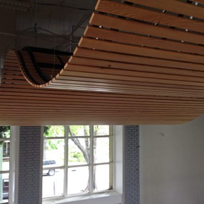 9Wood 8200 Linear Wood Wave at DPR Offices, San Jose, California. DPR.