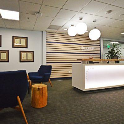 9Wood 2100 Panelized Linear at Adler Pharmaceuticals, Bothel, Washington. Perkins + Will.