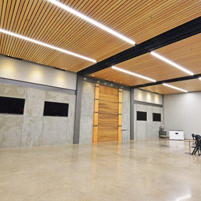 9Wood 2100 Panelized Linear at Venue 252, Eugene, Oregon. Market of Choice Interior Design.