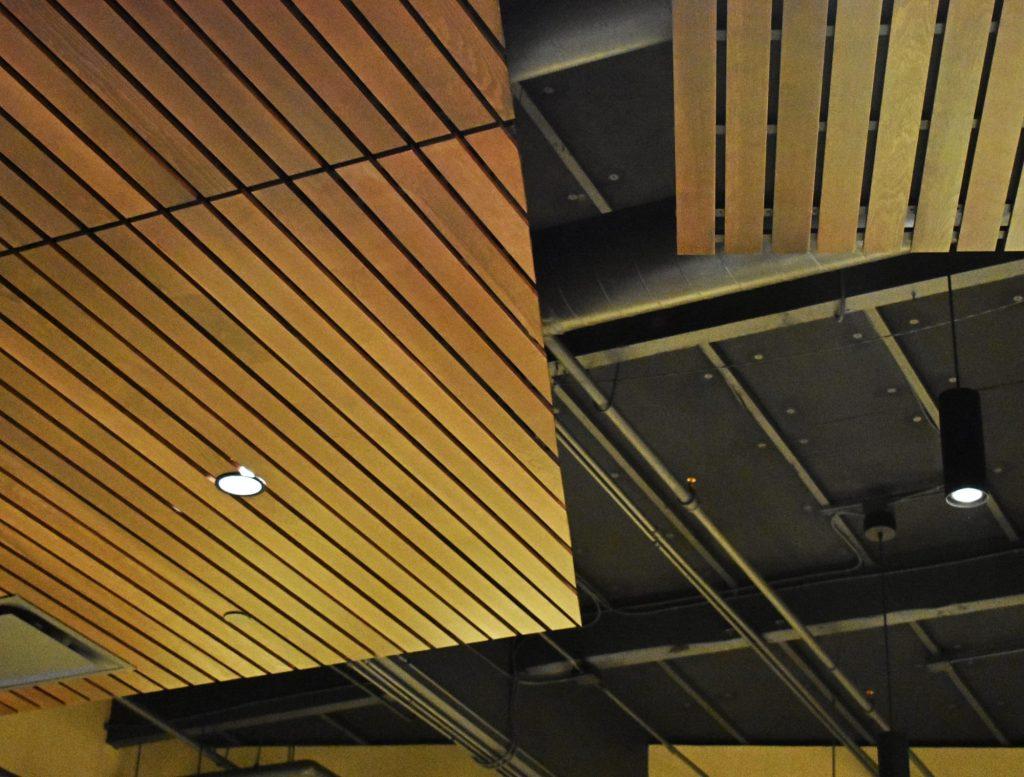 Suspended Wood Ceilings Drop