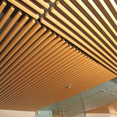 9Wood 1300 Lay-In Grille at Simon Fraser U. Shrum Science Centre, Burnaby, British Columbia. Henriquez Partners. Photo: ChrisBarton.Photography.
