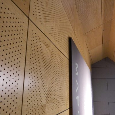 9Wood 5300 Diamond Perf Tile at SF Federal Office Building, San Francisco, California. Morphosis.