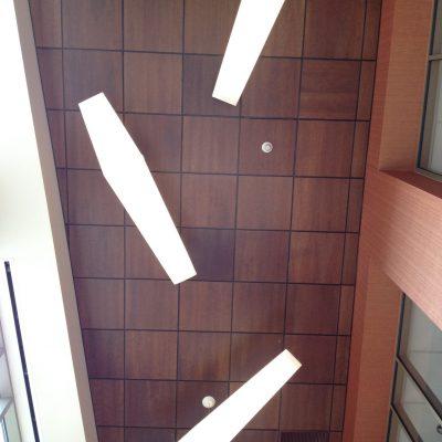 9Wood 4100 Tegular Tile at Eastman Savings & Loan, Rochester, New York. Labella Associates.