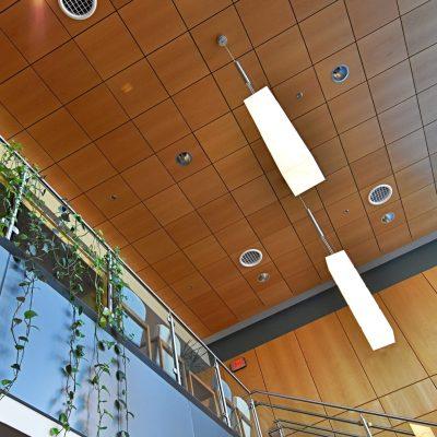 9Wood 4300 Lift & Lock Tile at Oregon Research Institute, Eugene, Oregon. Soderstrom Architects.