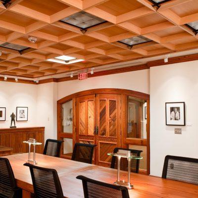 9Wood 7200 Modern Molding Coffer at Wittliff Gallery, San Marcos, Texas. Ford Powell & Carson. Photo: Mark Menjivar.