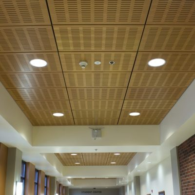 9Wood 5400 Slotted Perf Tile at Western University, Lebanon, Oregon. Soderstrom Architects.