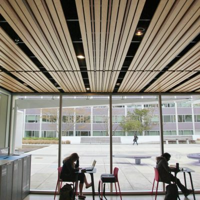 9Wood 2100 Panelized Linear at UBC Buchanan Café, Vancouver, British Columbia. Perkins + Will. Photo: ChrisBarton.Photography.