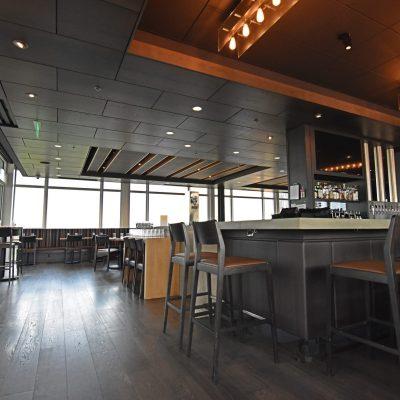 9Wood 4300 Lift & Lock Tile at Altabira City Tavern, Portland, Oregon. Holst Architecture.