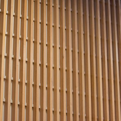 9Wood 1100 Cross Piece Grille at Portland Timbers Training Facility, Beaverton, Oregon. von Weise Associates.