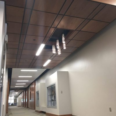 9Wood 4100 Tegular Tile at Nazareth College - Smyth Hall, Rochester, New York. SWBR Architects.