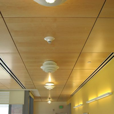 9Wood 4400 Torsion Spring Tile at Denver Children's Hospital, Aurora, Colorado. ZGF Architects.