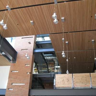 9Wood 2100 Panelized Linear at PACCAR Hall, Foster School of Business, University of Washington, Seattle, Washington. LMN Architects.
