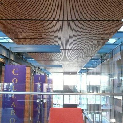 9Wood 2100 Panelized Linear at PACCAR Hall, Foster School of Business, University of Washington, Seattle, Washington. LMN Architects.