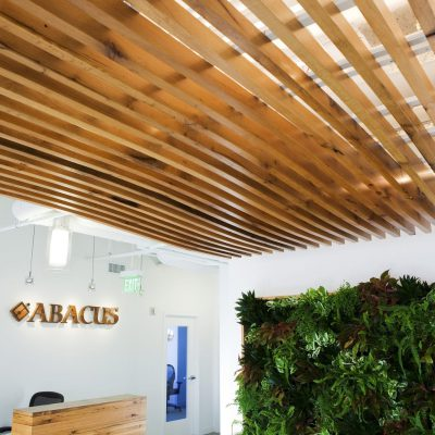 9Wood 1100 Cross Piece Grille at Abacus Wealth, Santa Monica, California. NBBJ.