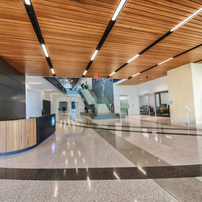 9Wood's 2100 Panelized Linear in Solid Western Hemlock with Stain at Charles Schwab Campus in Austin, Texas. Page. Work on the amenity building's lobby and hallway ceilings — a total of 8786 sq. ft. of linear panels — began in October 2017 and was completed in less than three months.