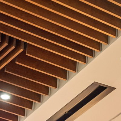 9Wood's 1100 Cross Piece Grille at the Hyatt Regency Seattle in Seattle, Washington. LMN Architects.