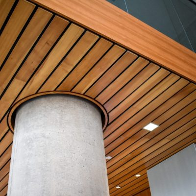 9Wood 2300 Continuous Linear at Segal Visitor Center, Northwestern University, Evanston, Illinois. Perkins+Will.