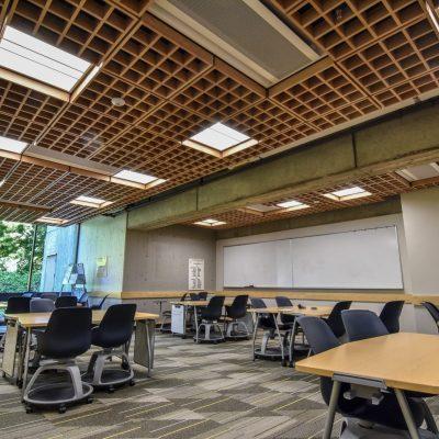 9Wood 6100 Modular Cube at Yamada Language Center, University of Oregon, Eugene, Oregon. Robertson Sherwood Architects.