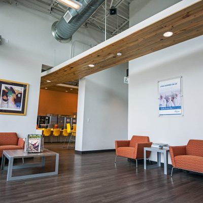 9Wood 2400 Tongue & Groove Linear at Nordson Medical, Loveland, Colorado. Powers Brown Architecture.
