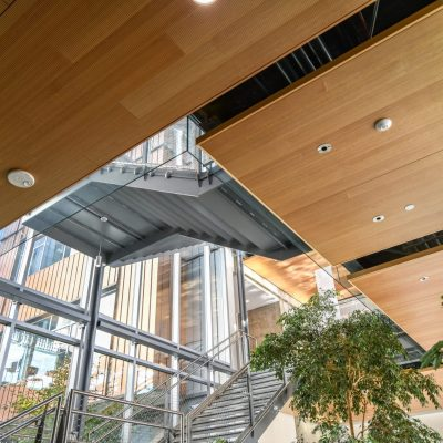 9Wood 3100 Acoustic Plank at Lane Community College, Downtown Campus, Eugene, Oregon. SRG Partnership, Robertson Sherwood Architects.