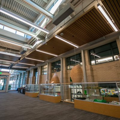 9Wood 2300 Continuous Linear at Graland Country Day School, Denver, Colorado. Bowie Gridley Architects.