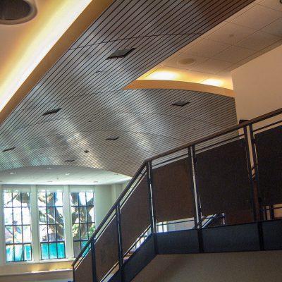 9Wood 8200 Linear Wood Wave at the Marin Academy Library, San Rafael, California. Studio Bondy Architecture.