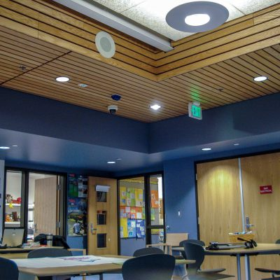 9Wood 2200 Lay-In Linear at St. Thomas Elementary, Medina, Washington.  Bassetti Architects.